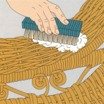 Deep-cleaning wicker